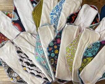Limited Edition! Organic Bamboo Velour LadyWear Quick-Dry cloth menstrual pads - Heavy/Overnight/Post Partum Flow