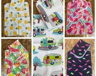 MamaBear Reusable Cloth Unpaper Towels Set of 4 - Summertime Fun