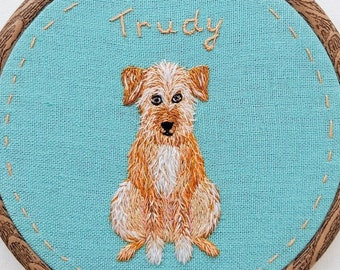 Pet Portrait Embroidery. Personalized Pet Portrait. Embroidery Dog Portrait. Embroidery cat portrait. Animals hand embroidery. Pet gift.