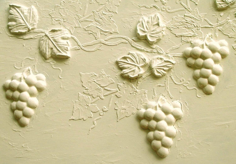 Stencil Wall Stencil Raised Plaster Grape Vine and Plaster | Etsy