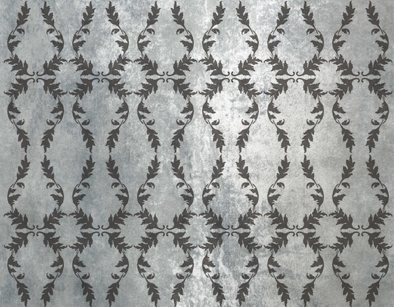 Acanthus Wallpaper Stencil Furniture Stencil Floor Stencil Stencils For Painting Stencils For Walls