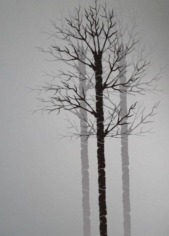 Tree Stencil PA Aspen Bare Birch Painting