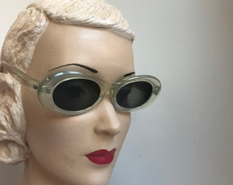 ec06d798696 Vintage 1940 s Clear Lucite Frame Prescription Sunglasses Glasses