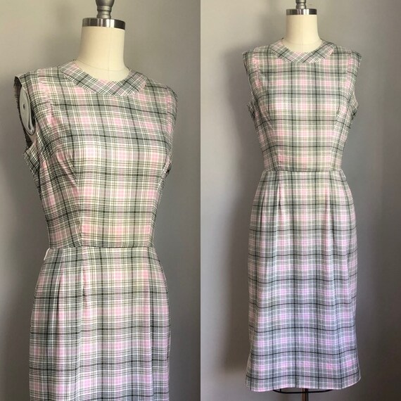 Vintage 1950's Bill Atkinson Pink and Gray Plaid W