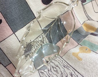 Leaf Shaped Glass Serving Dish