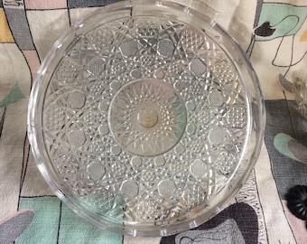 Crystal Geometric Serving Platter