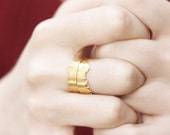 Istanbul Skyline Ring | Adjustable Ring | Womens Band | Gold Plated Ring | Matte Brass Ring | Minimalist Ring | Statement Band | Handmade