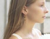Triangle Earrings | Dangle Earrings | Textured Earring | Gold Plated Brass | Drop Earrings | Birthday Gift For Women | Everyday Jewelry