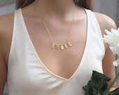 Statement Necklace | Textured Necklace | Bib Necklace | Bar Necklace For Women | Gold Plated Silver | Everyday Jewelry | Gift for Her