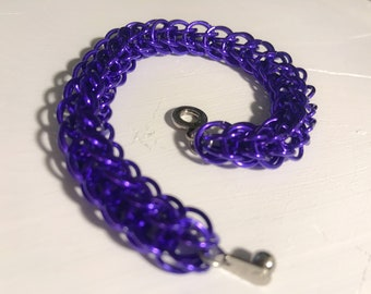Anodized Aluminum Purple Full Persian Chainmaille Bracelet