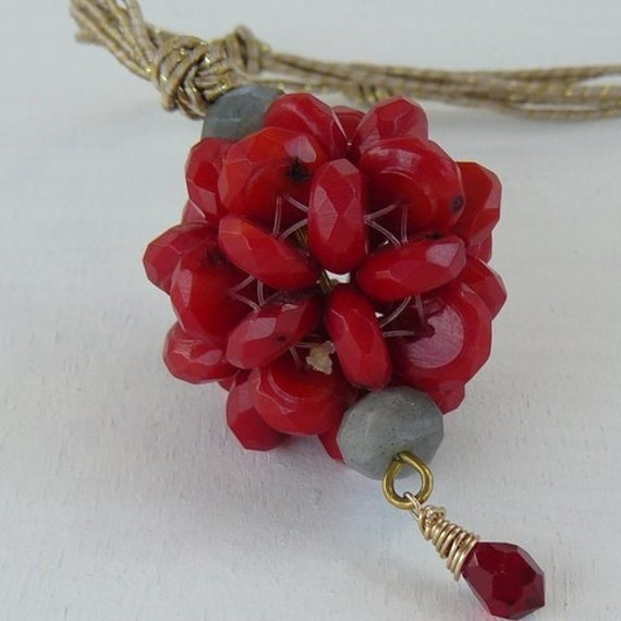 Inspirational Jewelry Red Coral Energy Necklace Coral