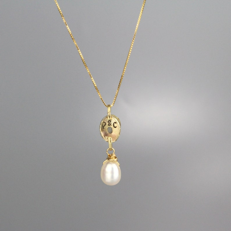 Gold Bridal Necklace Moonstone Necklace Gold Gemstone Necklace Initial Pendant Wife Gift Personalized Jewelry Personalized Necklace