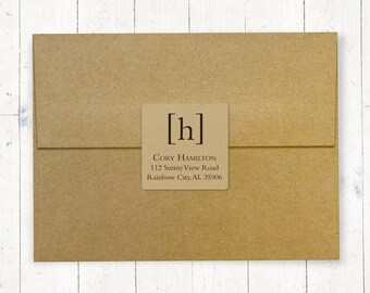 Personalized White Ink Custom Address Labels Script Address Stickers Cursive Address Label Western Return Address Labels Kraft