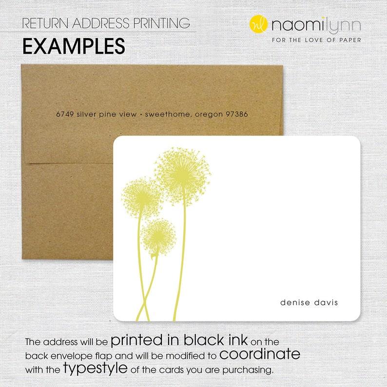 return address envelope printing for NOTE CARDS