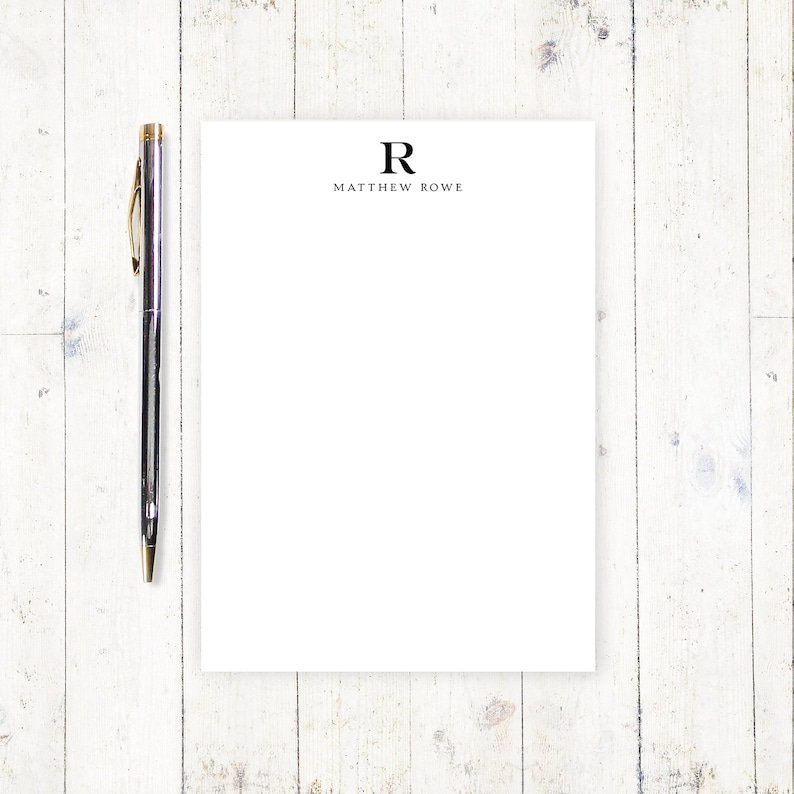 c249ba20607d Personalized notePAD PROFESSIONAL MONOGRAM stationery