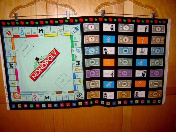 Quilting Treasures MONOPOLY Spielbrett PANEL Geld Spiel | Etsy