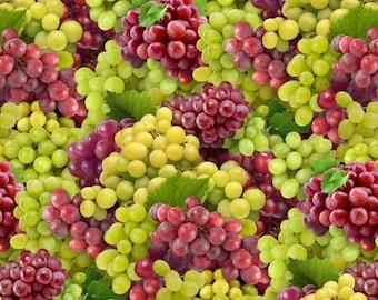 Elizabeth's Studio Food Festival - Grapes -579 - 100% Cotton fruit wine