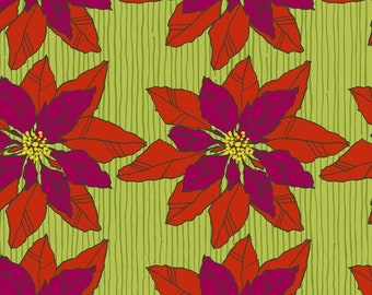 Fabric Windham Merry and Mod Poinsettia Blossom 52540D-1 Christmas Holiday collection Modern Quilting