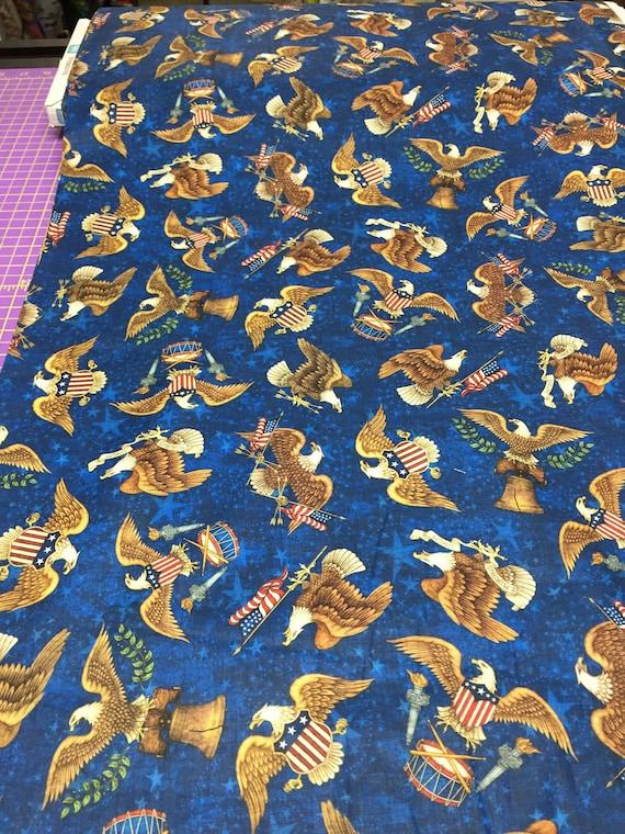 American Pride Fabric Cream Eagle Blender Patriotic Fabrics