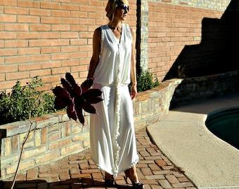 Beach Wedding Dress-Boho Wedding Dress-Bohemian Wedding Dress-A-Line Maxine Maxi Skirt Bride Separate-with Avery V Top-Chic Simple Modern