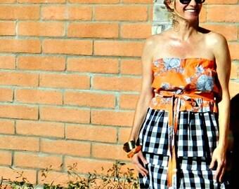 Full Circle Skirt-Full Skirt-Circle Skirt-Midi Skirt-High Waisted Skirt-Womens Skirts-LaChicSew Womens Clothing-Easy to Wear-Gingham Skirt