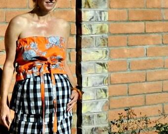 Maternity-Full Circle Skirt-Full Skirt-Circle Skirt-Midi Skirt-High Waisted Skirt-Womens Skirts-Womens Clothing-Easy to Wear-Gingham Skirt