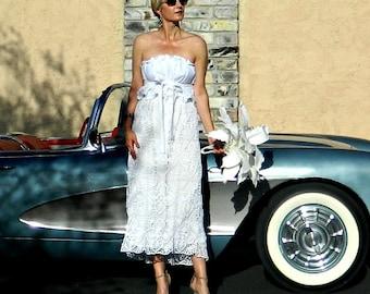 Lace Wedding Skirt-Bridal Skirt-Wedding Separates-Two Piece Wedding Dress-Hand Crochet Lace Couture Pineapple Motif Skirt-Modern Bride
