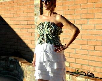 Maternity Clothes-Cute Maternity Clothes-Maternity Clothing-Maternity Skirt-Ruffle-Clothing-Women's Clothing-Skirts-White-Black-Custom Color