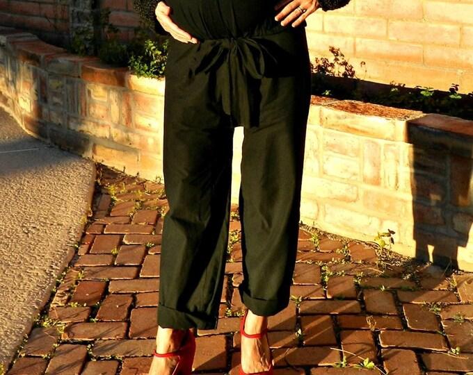 Maternity Pants-Harem Pants Women-Bohemian Pants-Boho Pants-Hippie Pants-Wide Leg Pants-Gypsy Pants-Womens Pants-Tie Sash C'est La Vie Style