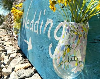 Hand Blown Vase-Hanging Vases-Wedding Gift-Wedding Decor-Color Choices-FREE Book Bonus
