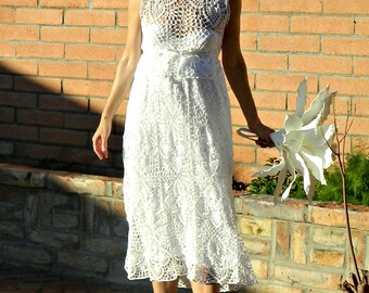 Maternity Lace Wedding Skirt-Bridal Skirt-Wedding Separates-Two Piece Wedding Dress-Hand Crochet Lace Couture Pineapple-Pregnant Bride Chic