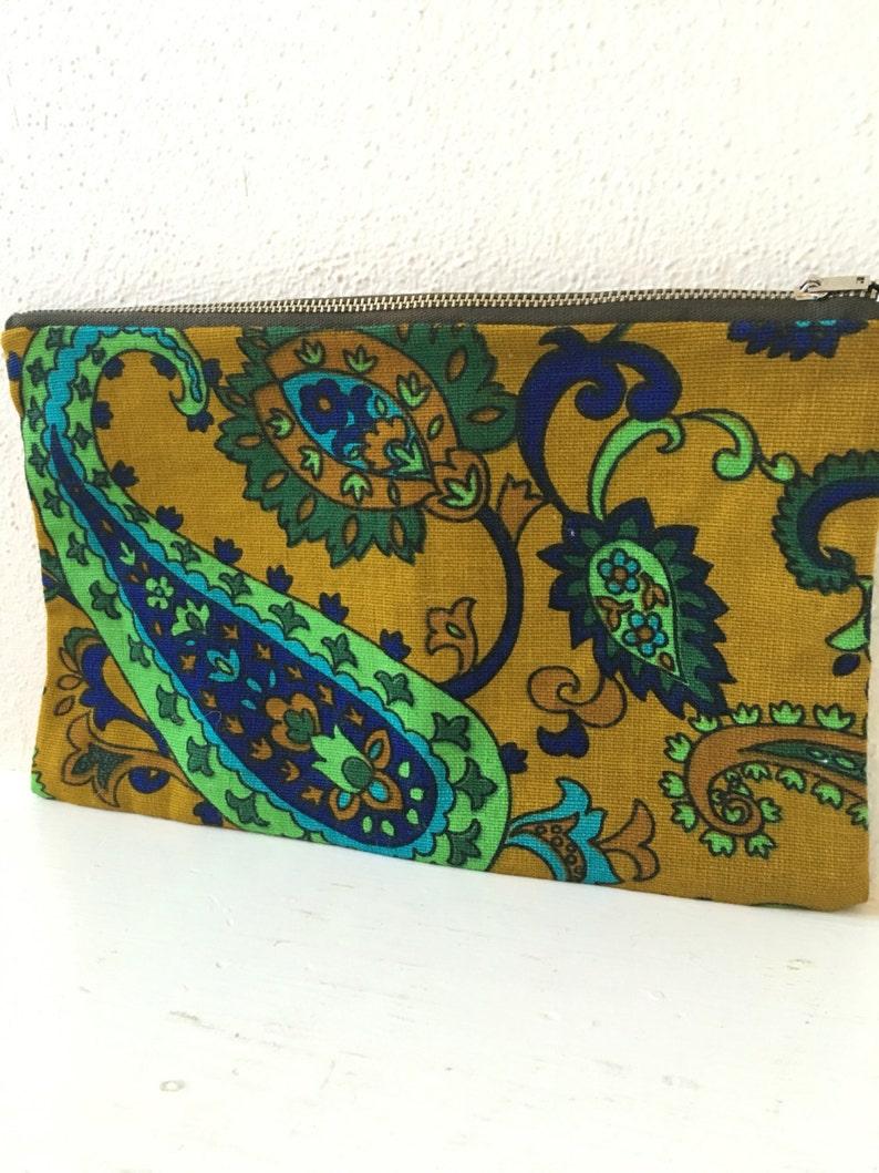 Paisley Vintage Fabric Zipper Pouch