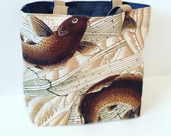 Fish Tote/ Handbag/ Purse
