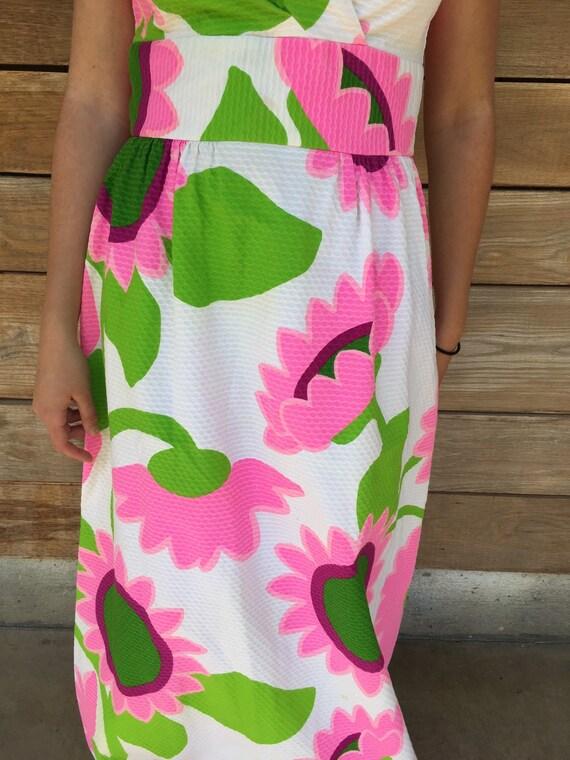Vintage Hawaiian Maxi Dress / 60s Hawaiian Dress … - image 4
