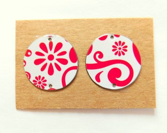 Upcycled Decorative Tin Findings Pair
