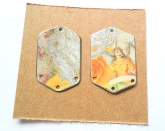 Recycled Vintage Inspired Cookie Tin Earring Findings