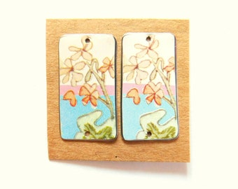 Upcycled Vintage English Tin Findings Pair