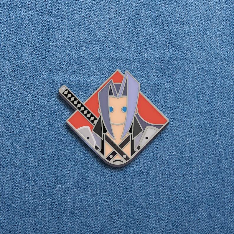 Final Fantasy Enamel Pin  Sephiroth  FFVII Soft Enamel Pin  image 0