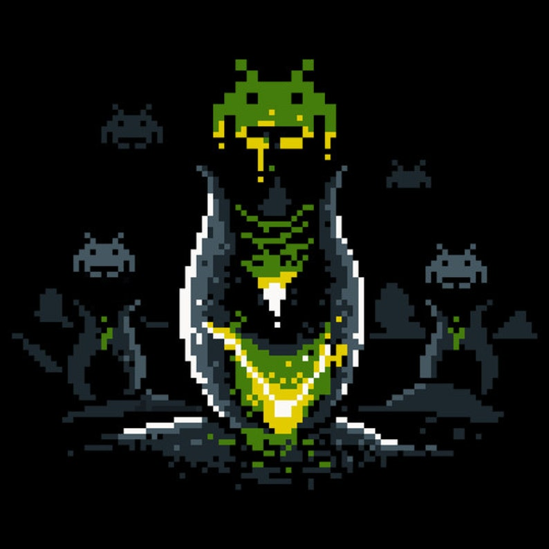 Alien Invaders   Space Invaders Tshirt   Aliens  Pixel Art image 0