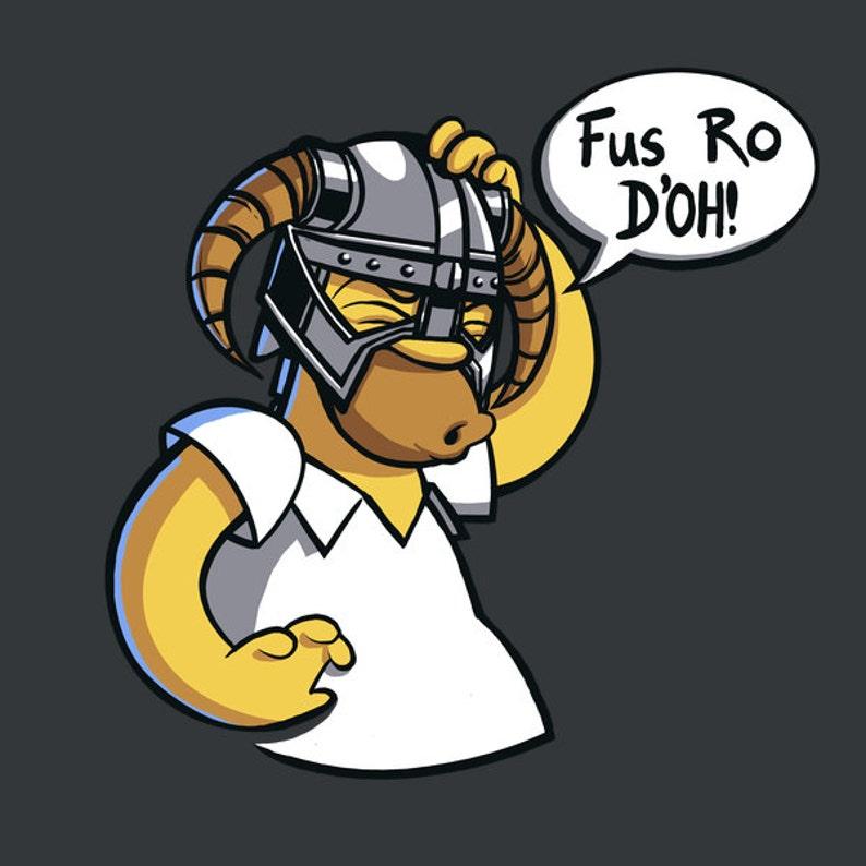 Funny Tshirts  Funny Skyrim Tshirt  Homer Tshirt  Geek image 0