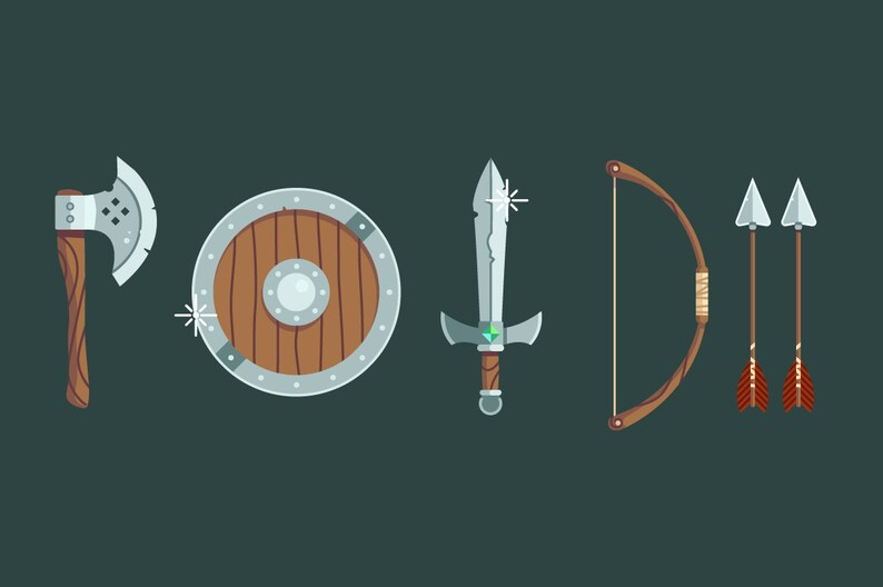 Adventure Weapon Pack  clip art  stock art  game dev  image 0