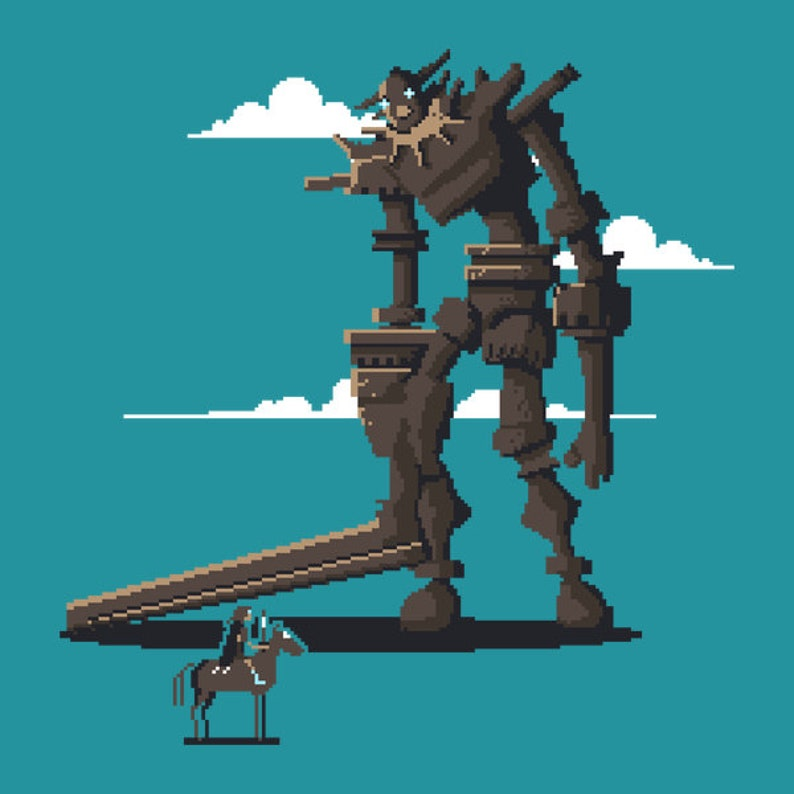 Pixels of the Colossus  Shadow of the Colossus  SOTC  Pixel image 0