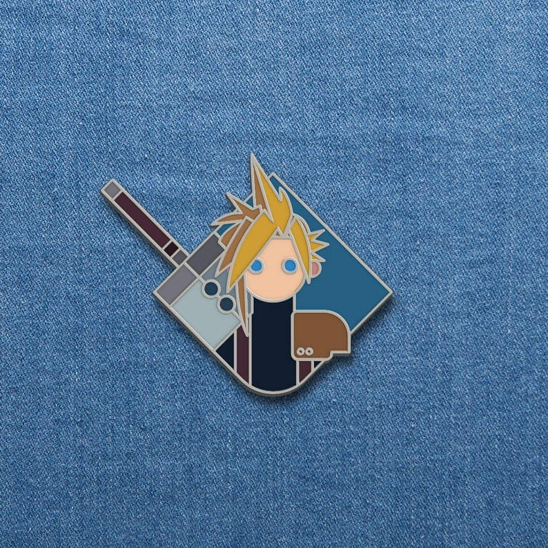 Final Fantasy Enamel Pin  Cloud  FFVII Soft Enamel Pin  image 0