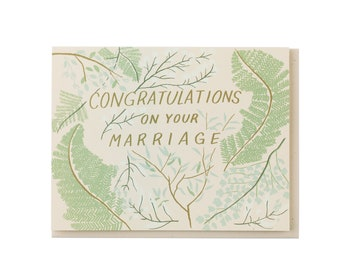Wedding Greenery Card
