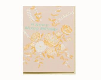 Bouquet Birthday Card