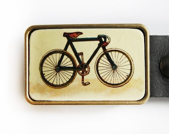 Vintage Bicycle Belt Buckle Single Speed