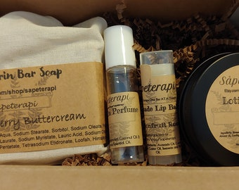 The Bath Gift Box Collection - Lavender Set