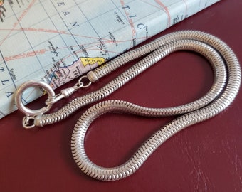Vintage Mid Century Mod Extra Long Silver Large Link Chain Belt with Tassel Many Ways to Wear It 42 Long