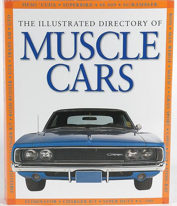 The Illustrated Directory of Muscle Cars hardcover reference book