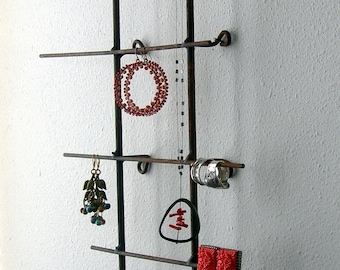Rustic Or Natural Metal Jewelry Display Wall Model - Short